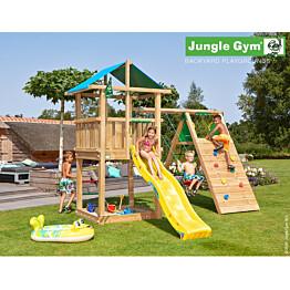 Leikkikeskus Jungle Gym Hut sis. kiipeilymoduuli ja liukumäki