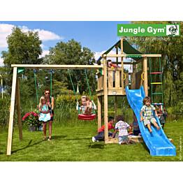 Leikkikeskus Jungle Gym Lodge sis. keinumoduuli ja liukumäki