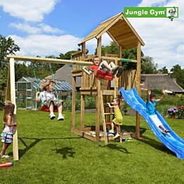 Leikkikeskus Jungle Gym Palace ja Swing Module X'tra sis. liukumäen