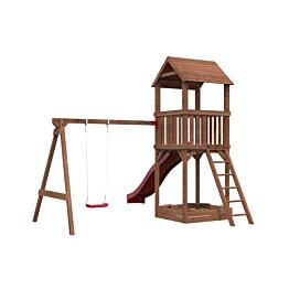 Leikkikeskus Palmako Jesper 2 sis. leikkitorni + hiekkalaatikko + keinuosa