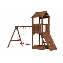 Leikkikeskus Palmako Jesper 3 sis. leikkitorni + hiekkalaatikko + kiipeilyseinä + keinuosa