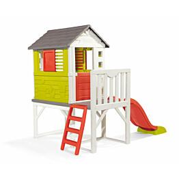 Leikkimökki Smoby House On Stilts sis. liukumäki