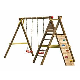 Leikkiteline Palmako Bosse sis. 2 keinua + kiipeilyteline + kiipeilyseinä