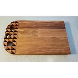 Leikkuu- ja tarjoilulauta Botnia Orientalis Design Pohjanmaa 180x300x20 mm tammi