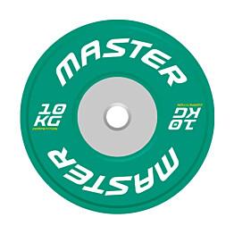 Levypaino Master Fitness Competition Bumper Plate 10 kg vihreä
