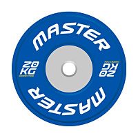 Levypaino Master Fitness Competition Bumper Plate 20 kg sininen