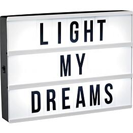 Lightbox LED PR Home 90 kirjainta A4 ajastin