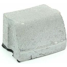 Liimattava reunakivi Rudus kaarre R1000 kupera 195x130x120 mm sileä harmaa