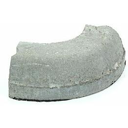 Liimattava reunakivi Rudus kulma R250 kupera 490x130x120 mm sileä harmaa