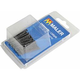 Listanaulat Maler, musta, 1.5x40mm, musta, 40kpl