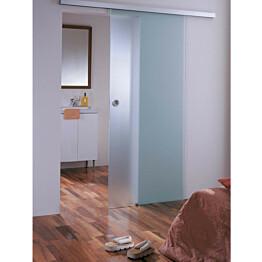 Liukuovi GlassHouse 7x19 katto-/seinäkiinnitys mattalasi eri värivaihtoehtoja