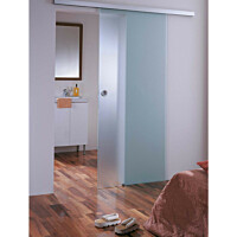 Liukuovi 9x19 GlassHouse katto-/seinäkiinnitys mattalasi eri värivaihtoehtoja
