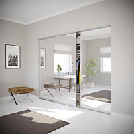 Nettioven Villa on tilanjakaja liukuovi kolmella ovella ja teräskehyksellä mittojen mukaan