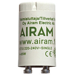 Loistelampun sytytin Airam St/U 4-65 W 1-kytkentä Ø 21x39 mm
