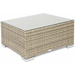 Lounge-pöytä Hillerstorp Valencia, 80x80cm, ruskea