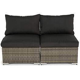 Lounge-sohva Cambridge, 2-istuttava, ilman käsinojia, harmaa