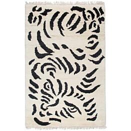 Luksusvillamatto Mum's Tiger, 170x240cm, mustavalkoinen