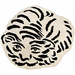Luksusvillamatto Mum's Tiger, Ø150cm, mustavalkoinen