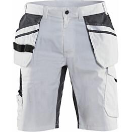 Maalarin shortsit Blåkläder 1099, stretch, valkoinen/tummanharmaa