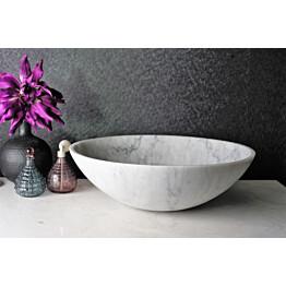 Malja-allas Bathlife Solid Carrara Ø 430 mm marmori hanareiällä