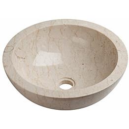 Malja-allas Qualitystone WB-BNS-KCP Ø 400 mm marmori beige
