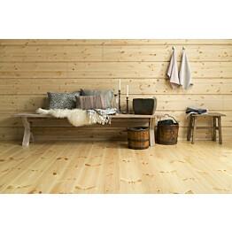 Mäntylattia Parla 3X  puuvalmis 1,12 m²/pak huoneessa