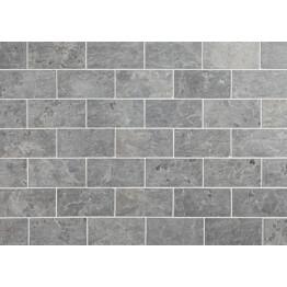 Marmorilaatta Qualitystone Light Grey Marble Tile 100x200 mm