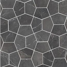 Marmorilaatta Qualitystone Pentagon Grey 150x100 mm