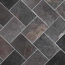 Marmorilaatta Qualitystone Herringbone Gray 100 x 150 mm