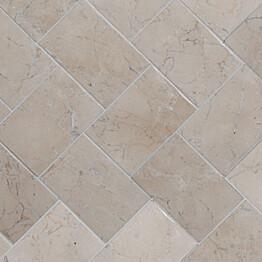 Marmorilaatta Qualitystone Herringbone White 100 x 150 mm