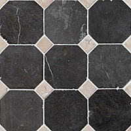 Marmorimosaiikki Qualitystone Classic Gray-White verkolla 100x100_20x20 mm