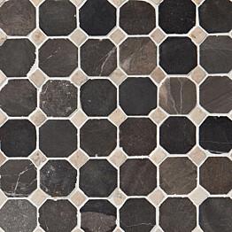 Marmorimosaiikki Qualitystone Classic Gray-White verkolla 50x50_10x10 mm