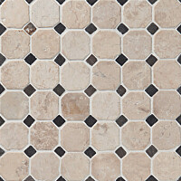 Marmorimosaiikki Qualitystone Classic White-Gray verkolla 50x50_10x10 mm