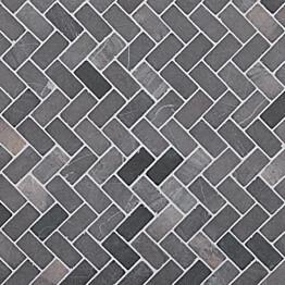 Marmorimosaiikki Qualitystone Herringbone Gray 30 x 60 mm