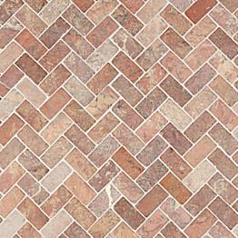Marmorimosaiikki Qualitystone Herringbone Terra 30 x 60 mm