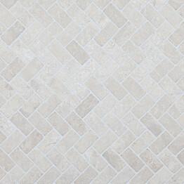 Marmorimosaiikki Qualitystone Herringbone White 30 x 60 mm