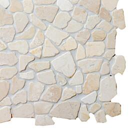 Marmorimosaiikki Qualitystone Mosaic White Interlock verkolla vapaa mitta