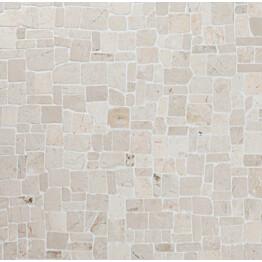 Marmorimosaiikki Qualitystone Roman White verkolla vapaa mitta