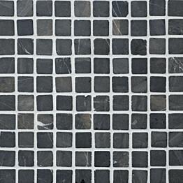 Marmorimosaiikki Qualitystone Square Gray verkolla 30 x 30 mm
