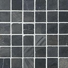 Marmorimosaiikki Qualitystone Square Gray verkolla 50 x 50 mm
