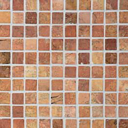 Marmorimosaiikki Qualitystone Square Terra verkolla 30 x 30 mm