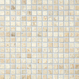 Marmorimosaiikki Qualitystone Square White verkolla 20 x 20 mm