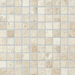 Marmorimosaiikki Qualitystone Square White verkolla 30 x 30 mm