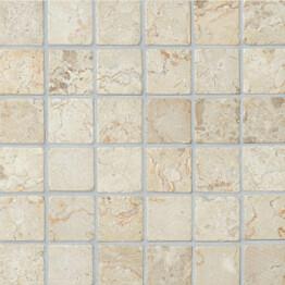 Marmorimosaiikki Qualitystone Square White verkolla 50 x 50 mm