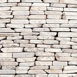 Marmorimosaiikki Qualitystone Standing White Interlock verkolla vapaa mitta