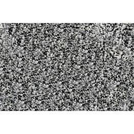 Kylpyhuonematto Duschy Sydney 70x120 cm musta/valkoinen