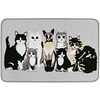 Matto Vallila Kitties, 50x80cm, greysand