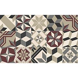 Matto Beija Flor Eclectic Gothic 60x97 cm viininpunainen/harmaa/beige