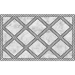 Matto Beija Flor Marble Mosaic 60x97 cm valkoinen/harmaa/musta