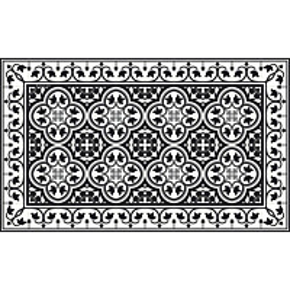 Matto Beija Flor Portugal 68x120 cm musta/valkoinen